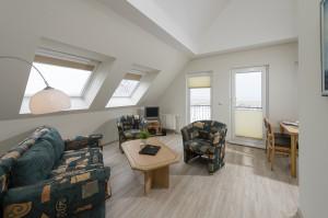 Wohnzimmer der Ferienwohnung PAM28