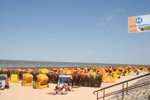 Strand mit Strandkörben in Duhnen