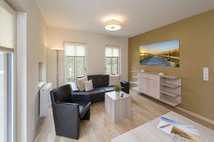 Wohnzimmer Haus Scharhörn-Riff - Wohnung 14 in Cuxhaven Duhnen